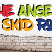 """Image """"The Angel of Skid Row"""" Colorful Lettering"""